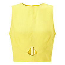 Buy Miss Selfridge Peekaboo Shell Top, Chartreuse Online at johnlewis.com