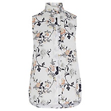 Buy Oasis Sashiko Sleeveless Shirt, Off White Online at johnlewis.com