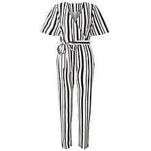 Buy Miss Selfridge Petites Angel Sleeve Jumpsuit, Ivory Online at johnlewis.com