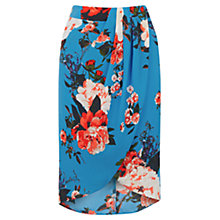Buy Oasis Romantic Rose Skirt, Mid Blue Online at johnlewis.com