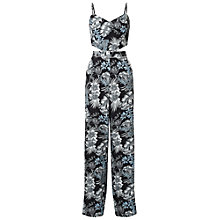 Buy Miss Selfridge Print Cutout Jumpsuit, Assorted Online at johnlewis.com