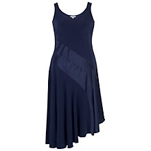 Buy Chesca Satin Back Crepe Dress, Navy Online at johnlewis.com