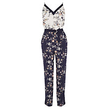 Buy Oasis Sashiko Patched All In One Jumpsuit, Navy Online at johnlewis.com