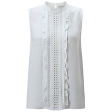 Buy Miss Selfridge Pintuck Shell Top, White Online at johnlewis.com