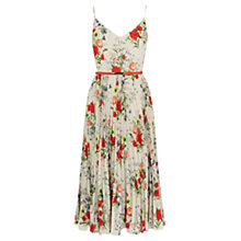 Buy Oasis Floral Midi Dress, Multi Grey Online at johnlewis.com