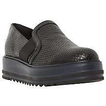 Buy Dune Black Graft Flatform Loafers Online at johnlewis.com