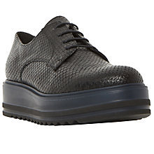 Buy Dune Black Folde Flatform Lace Up Brogues Online at johnlewis.com
