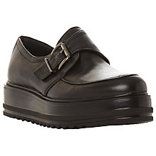 Buy Dune Black Germaine Flatform Buckle Shoes, Black Online at johnlewis.com