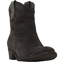 Buy Dune Black Parc Western Block Heeled Ankle Boots Online at johnlewis.com