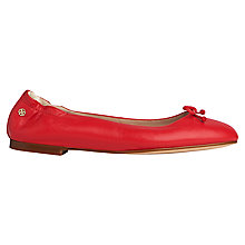 Buy L.K. Bennett Thea Bow Detail Pumps, Cherry Leather Online at johnlewis.com