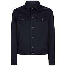 Buy Jaeger Twill Shirt Jacket, Navy Online at johnlewis.com