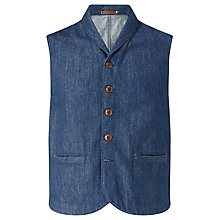Buy JOHN LEWIS & Co. Denim Waistcoat, Blue Online at johnlewis.com