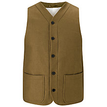 Buy JOHN LEWIS & Co. Wool Wadded Vest, Olive Online at johnlewis.com