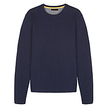 Buy Jaeger Plain Sweatshirt, Navy Online at johnlewis.com