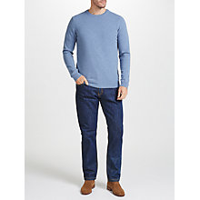 Buy John Lewis Maida Vale Rigid Denim Straight Jeans, Mid Wash Online at johnlewis.com