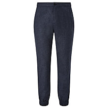 Buy Kin by John Lewis Melange Jogger Cuffed Trousers, Blue Online at johnlewis.com