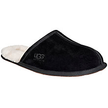 Buy UGG Scuff Mule Suede Slippers, Black Online at johnlewis.com