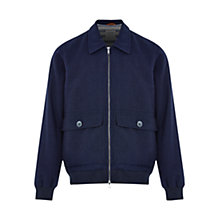 Buy HYMN Mann Stripe Jacket, Navy Online at johnlewis.com