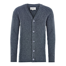 Buy HYMN Rotten Ribbed Cardigan, Grey Online at johnlewis.com