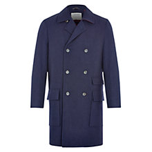 Buy HYMN Johnson Longline Peacoat, Navy Online at johnlewis.com