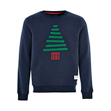 Buy HYMN Christmas Tree Jersey Top, Navy Online at johnlewis.com
