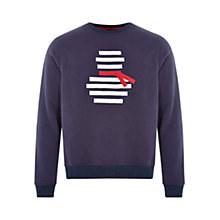 Buy HYMN Frosty Snowman Sweater, Navy Online at johnlewis.com