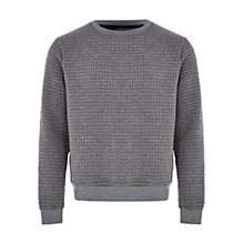 Buy HYMN Masterswitch Waffle Jersey Top, Grey Online at johnlewis.com