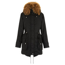 Buy Whistles Harley Waxy Parka Coat, Black Online at johnlewis.com