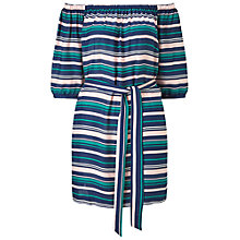 Buy Miss Selfridge Stripe Bardot Dress, Multi Online at johnlewis.com