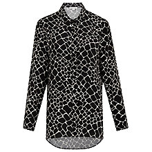 Buy Whistles Giraffe Print Shirt, Black/Multi Online at johnlewis.com