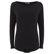Buy Mint Velvet Ruched Back Knit Jumper, Black Online at johnlewis.com
