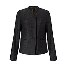 Buy Jigsaw Pressed Tweed Box Jacket, Black Online at johnlewis.com