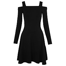 Buy Whistles Cold Shoulder Jersey Dress, Black Online at johnlewis.com