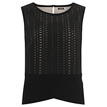 Buy Mint Velvet Mesh Shell Top, Black Online at johnlewis.com