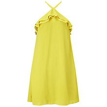 Buy Miss Selfridge Ruffle Halter Dress, Chartreuse Online at johnlewis.com