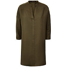 Buy Jaeger Khaki Linen Oversized Tunic Top Online at johnlewis.com