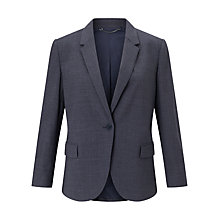 Buy Jigsaw Stretch Melange Portofino Jacket, Ash Blue Online at johnlewis.com