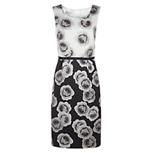 Buy Hobbs Giselle Dress, Ivory Black Latte Online at johnlewis.com