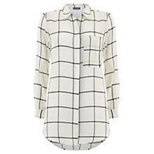 Buy Mint Velvet Check Pocket Shirt, Ivory Online at johnlewis.com