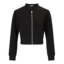 Buy Miss Selfridge Shrunken Bomber Jacket Online at johnlewis.com