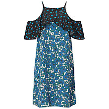 Buy Miss Selfridge Print Cold Shoulder Dress, Multi Online at johnlewis.com