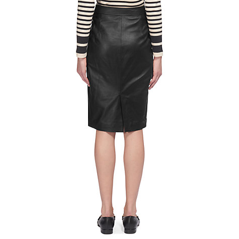 buy whistles button leather pencil skirt black lewis