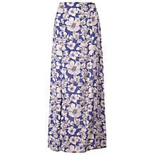 Buy Miss Selfridge Floral Maxi Skirt, Blue Online at johnlewis.com