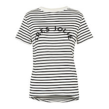 Buy Whistles Tres Jolie Stripe T-Shirt, Black/Multi Online at johnlewis.com