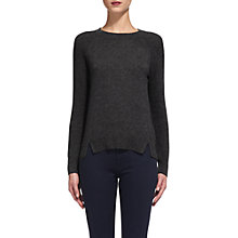 Buy Whistles Ribbed Sleeve Cashmere Jumper,Dark Grey Online at johnlewis.com