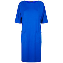 Buy Jaeger Seam Detail Jersey Dress, Bright Blue Online at johnlewis.com