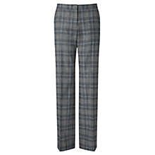 Buy Jigsaw Check Parallel Trousers, Grey Melange Online at johnlewis.com