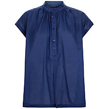 Buy Jaeger Gathered Drop Shoulder Shirt, White Online at johnlewis.com