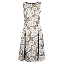 Buy Hobbs Veronica Dress, Latte Beige/Ivory Online at johnlewis.com