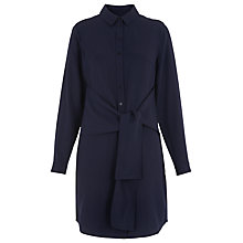 Buy Whistles Wrap Tie Health Dress, Navy Online at johnlewis.com